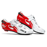 Sidi Wire Carbon Vernice Cycling Shoes - White/Red - 2015