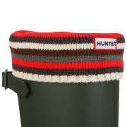 Hunter Unisex Striped Cuff Welly Socks - Multi Monochrome