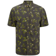 nANA jUDY Men's Quattro Printed Short Sleeved Shirt - Black/Green