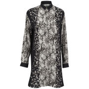 Paul by Paul Smith Women's Oversized Floral Placement Shirt Dress - Black/Grey
