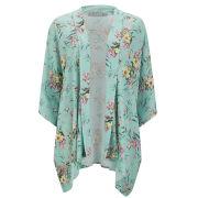 LOVE Women's Oriental Print Kimono - Mint