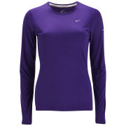 Nike Women's Miler Long Sleeve Running Top - Court Purple