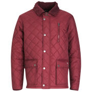 Atticus Men's Quilted Jacket - Burgundy