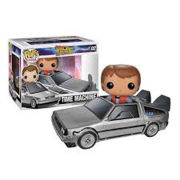 Back to the Future Marty with Delorean Mcfly Pop! Vinyl Figure