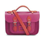 The Cambridge Satchel Company Women's Mini Two Tone Satchel - Flame Orange/Hot Pink