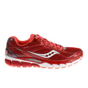Saucony Women's Ride 7 Neutral Running Shoes (Medium Width) - Berry/Vizi Coral