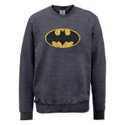 DC Comics Sweatshirt - Batman Crackle Logo - Steel Grey