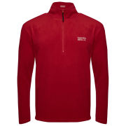 55 Soul Men's Inca Half Zip Fleece Sweatshirt - Warm Red/Silver Grey