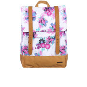 Animal Alliste Backpack - White/Brown/Floral Print