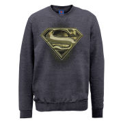 DC Comics Sweatshirt Superman Engraving Logo - Steel Grey