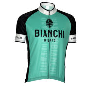 Bianchi Edoardo1 Short Sleeve Jersey - Celeste/Black