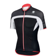 Sportful Pordoi Short Sleeve Jersey - Black/White/Red