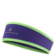 RonHill Women's Stretch Headband - Plum/Fluorescent Green