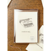 Katie Leamon Hand Printed Typewriter Box Set of Cards
