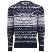 Farah Vintage Men's Mantle Knit Jumper - True Navy
