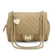 Marc B Knightsbridge Quilted Shoulder Bag - Sand