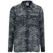 Vero Moda Women's Zoey Zebra Print Shirt - Black