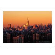 Richard Berenholtz Manhattan Dusk Art Print (50x70)