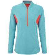 RonHill Women's Trail Long Sleeve Zip Running T-Shirt - Hawaii/Fire