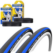 Veloflex Master 23 Clincher Road Tyre Twin Pack with 2 Free Inner Tubes - Red 700c x 23mm