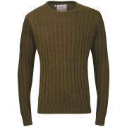 Brave Soul Men's Mao Cable Knit Jumper - Green