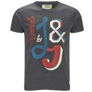 Jack & Jones Men's Mix T-Shirt - Dark Grey Melange