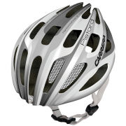 Carrera Pistard 2014 Road Helmet with Rear Light - Gloss White/Silver