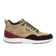 Gourmet Men's 35 Lite Cork LX Trainers - Stripe Cork/White