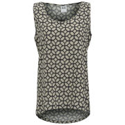 Vero Moda Women's Easy Mosa Print Tank Top - Black