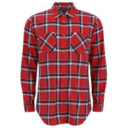 Marc by Marc Jacobs Men's Oversized Toto Plaid Shirt - Cambridge Red Multi Check