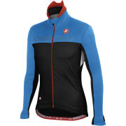 Castelli Poggio Jacket - Black/Drive Blue/White