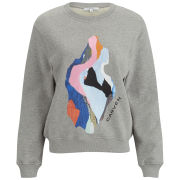 Carven Women's Embroided Sweater - Mottled Grey