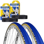 Veloflex Master 25 Clincher Road Tyre Twin Pack with 2 Free Tubes - Blue 700c x 23mm