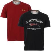 Slazenger Men's 2-Pack T-Shirts - Navy/Berry