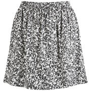 Lacoste L!ve Women's Ink Print Skirt - Flour/Black