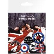 The Who Lyrics and Logos - Badge Pack