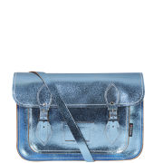 Zatchels 13 Inch Candy Leather Satchel - Blue