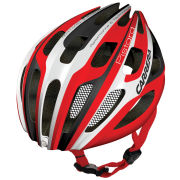Carrera Pistard Road Helmet with Rear Light Red/White