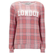 Wildfox Women's London Plaid  Baggy Beach Jumper - Multi