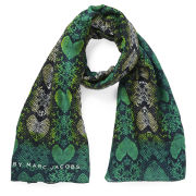 Marc by Marc Jacobs Women's Heart Snake Print Scarf - Green Multi