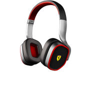 Ferrari Scuderia R200 Headphones Including Mic and In-line Remote - Silver