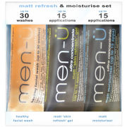 men-ü Matt Refresh and Moisturise Set (3 Products)
