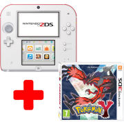 Nintendo 2DS White & Red Console: Bundle includes Pokemon Y