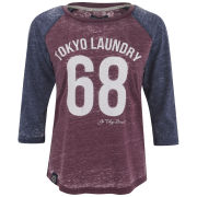 Tokyo Laundry Women's Bella Three Quarter Sleeve Top - Bordeaux