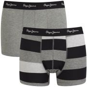 Pepe Jeans Men's Harley Gift Set 2 Pack Boxers - Black/Dark Grey