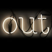 "Seletti Neon Font ""Out"" Lamp"