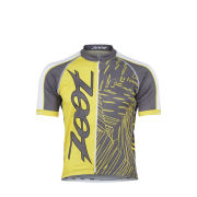 Zoot Cycle Team Short Sleeve Jersey - Pewter/Yellow