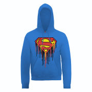 DC Comics Hoody - Superman Drip Logo - Royal Blue