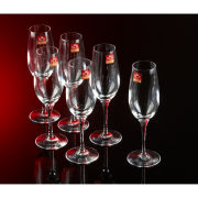 RCR Six Champagne Glasses