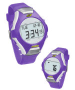 Skechers Wrist Band Watch & Heart Rate Monitor - Purple